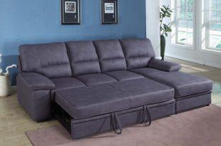 grey sleeper sectional sofa TPMKAHW