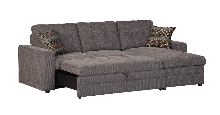 gus collection 501677 sleeper sectional sofa UTKMHBV