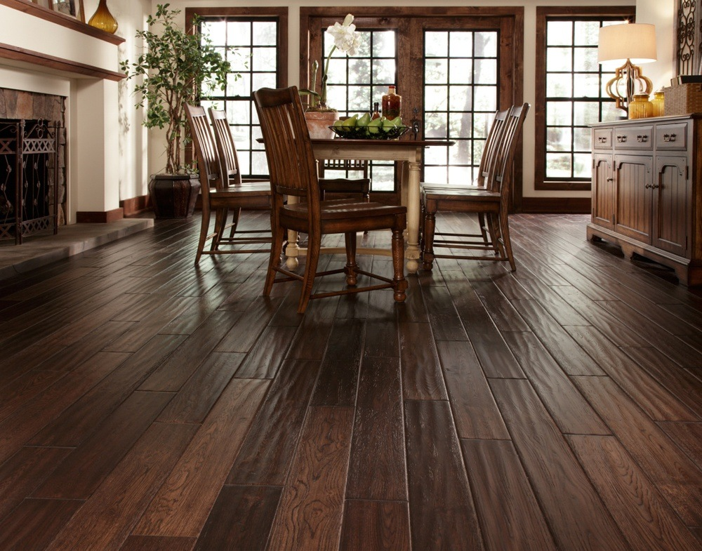 hand scraped hardwood floors dining room with hand scraped hardwood floor LTHQHVT