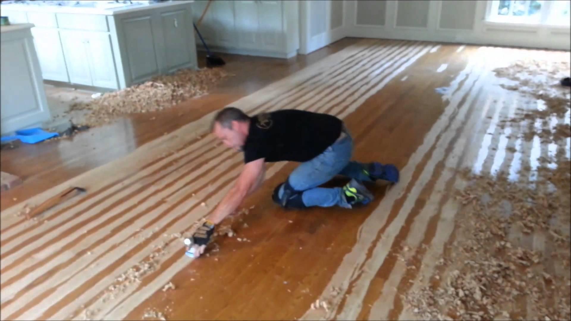 hand scraped wood floors hand scrape your hardwood floors - youtube KVVXHRN