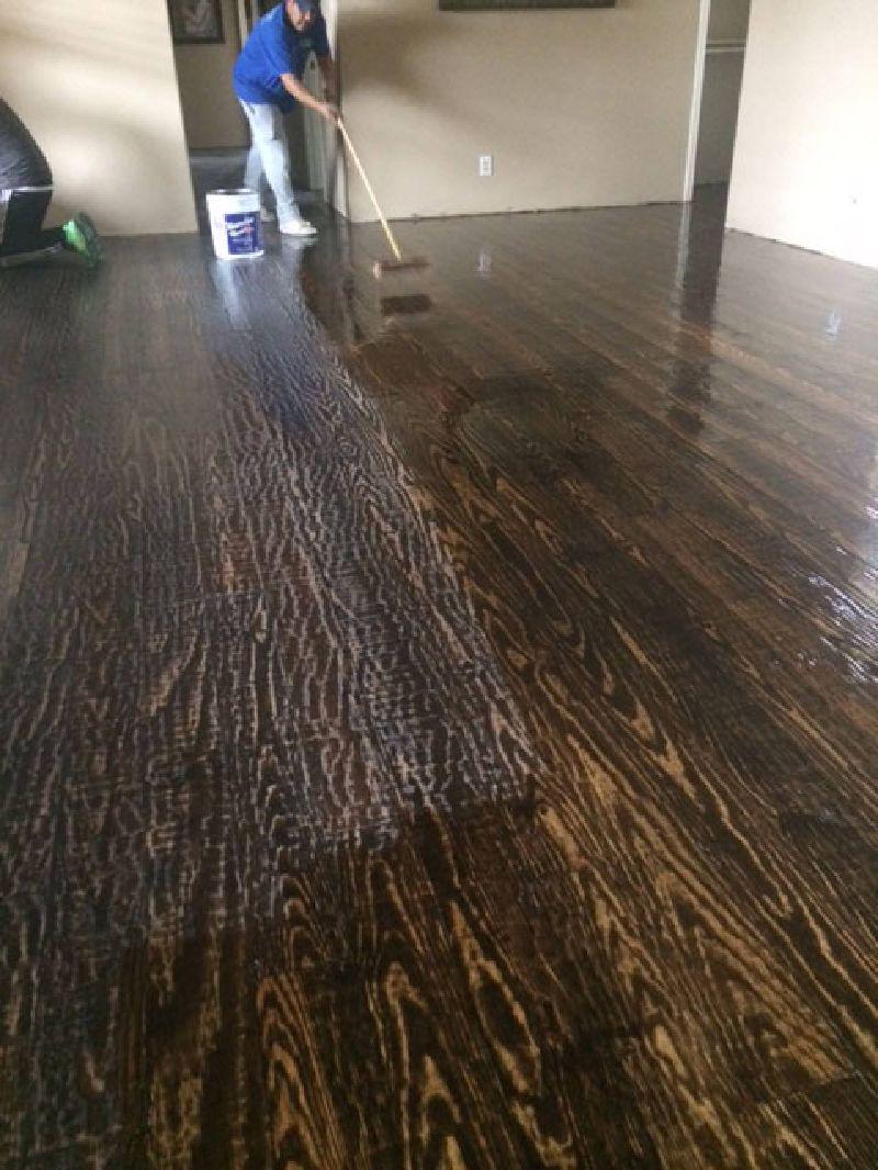 hand scraped wood floors hand scraped - final coat of finish (against grain) XHVOWJG