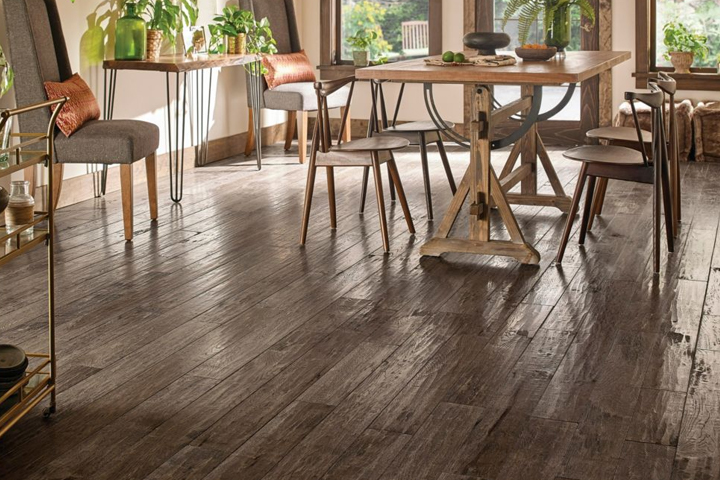 hand scraped wood floors hickory solid hardwood monument valley for the dining room - sas524 BMCOTIG