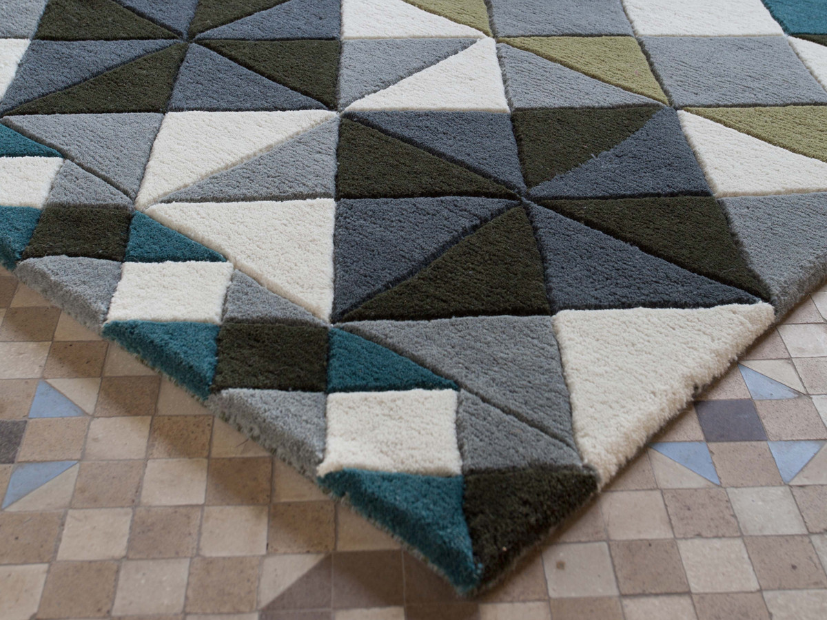 Hand tufted rugs buy the gan hand tufted mosaiek rug grey at nest.co.uk YAEKJIR