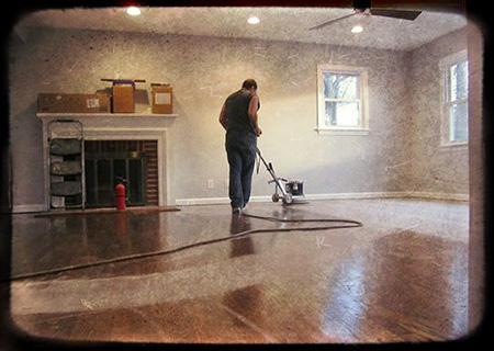 hardwood floor refinishing project in progress OTMANIN