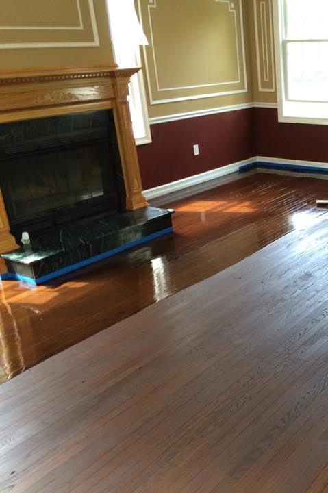Hardwood floor wax; how to apply
