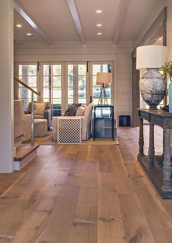 hardwood flooring ideas wide plank white oak hardwood floor for a living room NMTFYYA