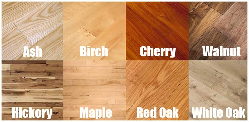 hardwood flooring types color grid for different types of hardwood flooring SLWVGLX