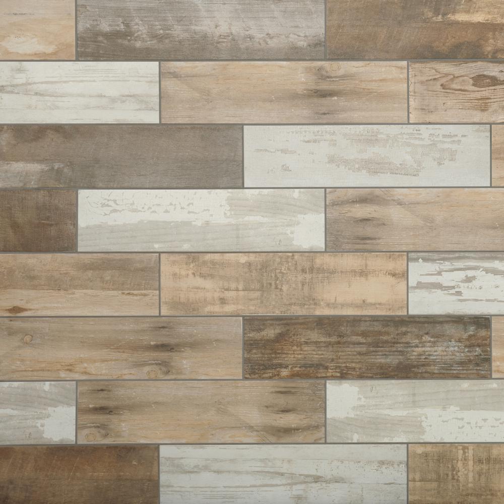Hardwood tile flooring marazzi montagna wood vintage chic 6 in. x 24 in. porcelain floor and IWOTPQM