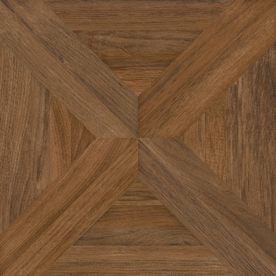 Hardwood tile flooring nitrotile villanova brown wood look ceramic floor tile (common: 17-in x 17 AZDAJWS