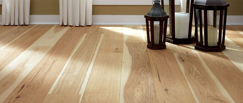 hickory hardwood flooring how to design the perfect hickory wood floor MXBVUWP
