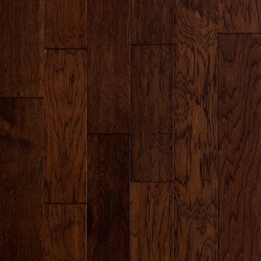 hickory hardwood flooring style selections 5-in barrel hickory engineered hardwood flooring (32.29-sq  ft) GZKYFYJ