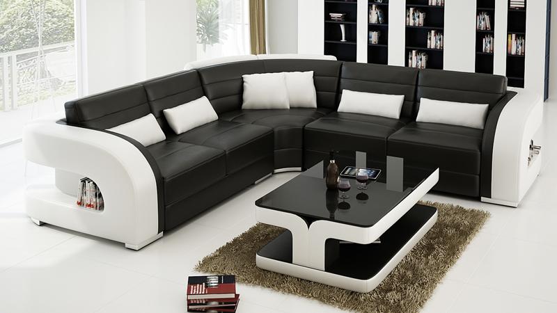 high quality sofa modern design high quality leather sofa 0413 f3002b-in living room sofas  from SLIXRAC