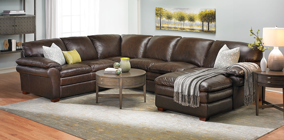 home decor picture of winfield leather sectional sofa yjrlory KVWYHNP