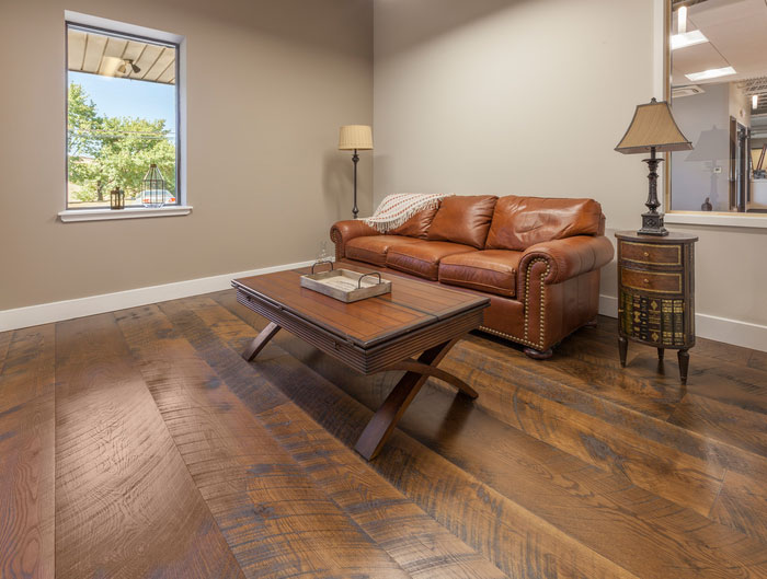 home » distressed wide plank flooring. prefinished engineered white oak  character skipped YSWXTII