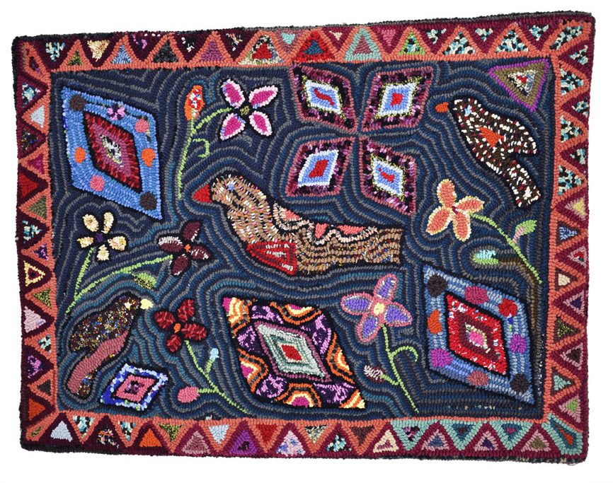 hooked rugs eagles nest woolens, owned by caroline twigg of keedysville, md, will be AOWIQET