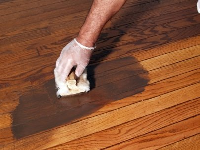 how to refinish hardwood floors - stain KYOGIYI