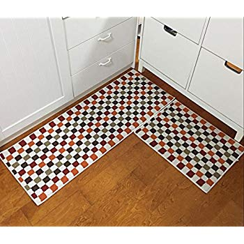 kitchen carpet easychan 2 piece carpet rubber backing non-slip kitchen rugs mat doormat  area RVIZXYI