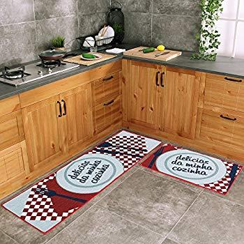 kitchen rug carvapet 2 piece kitchen mat no rubber backing doormat runner rug set, dish AUPSEDW