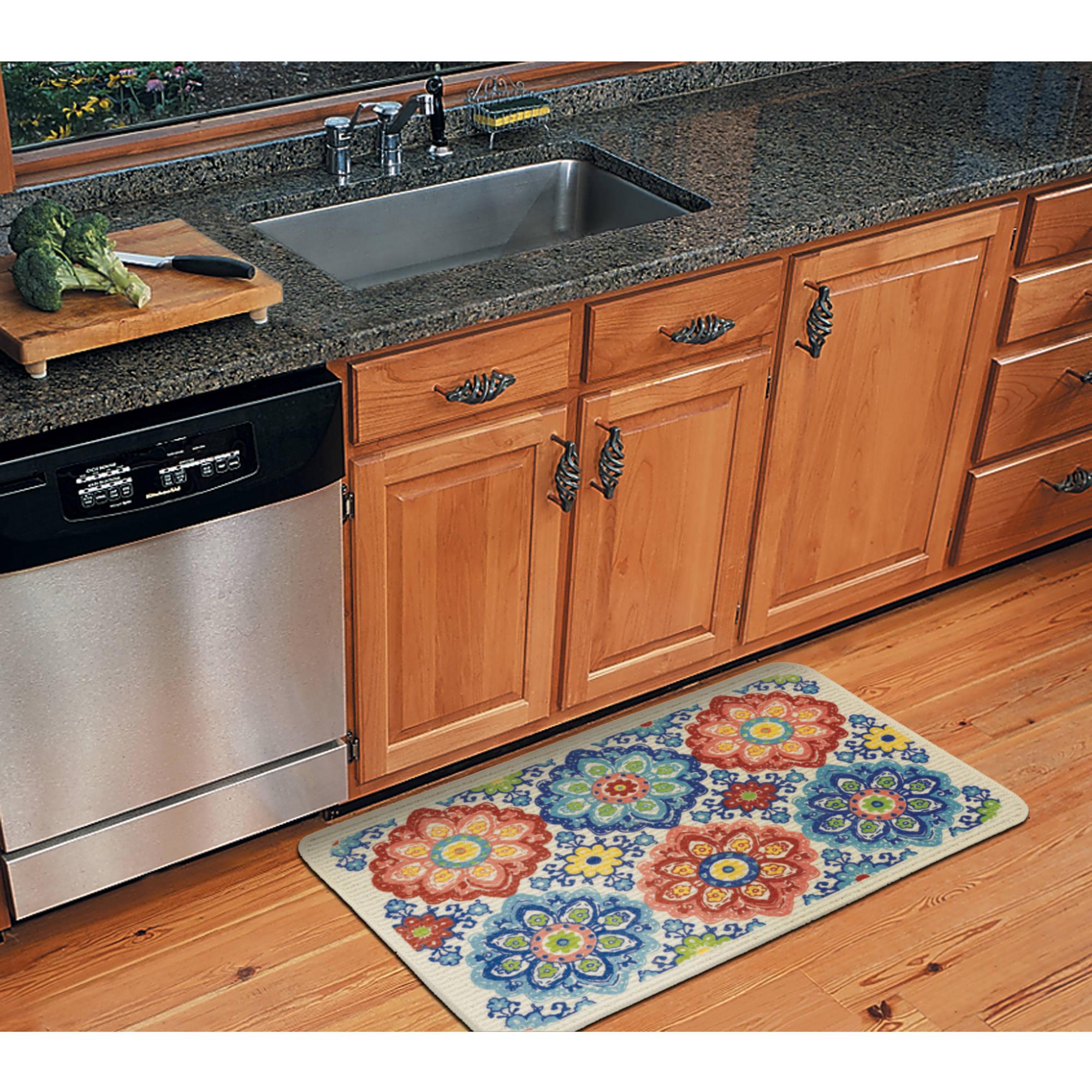 kitchen rug mainstays owl branches kitchen mat - walmart.com IBTYPGQ