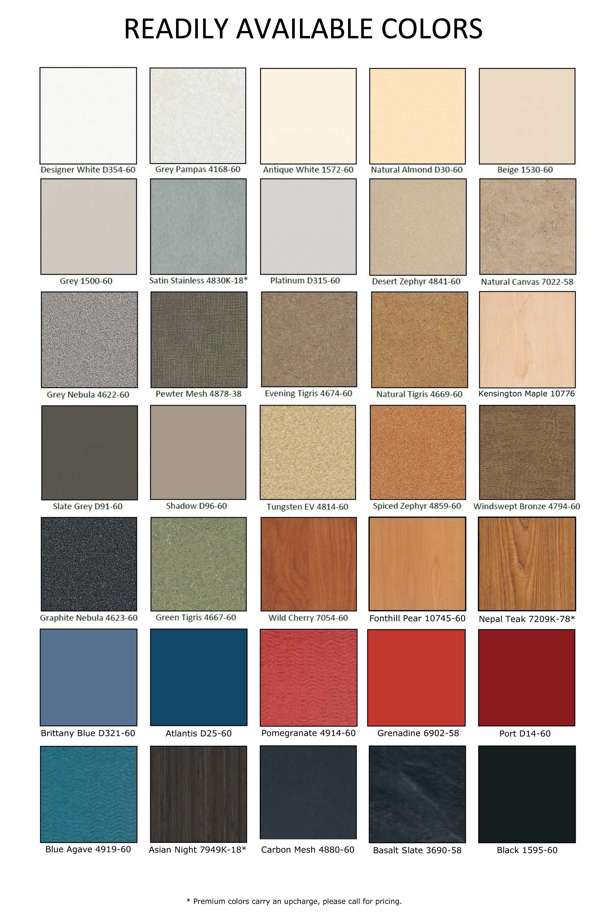 Laminate colors; a guide to choose the right color