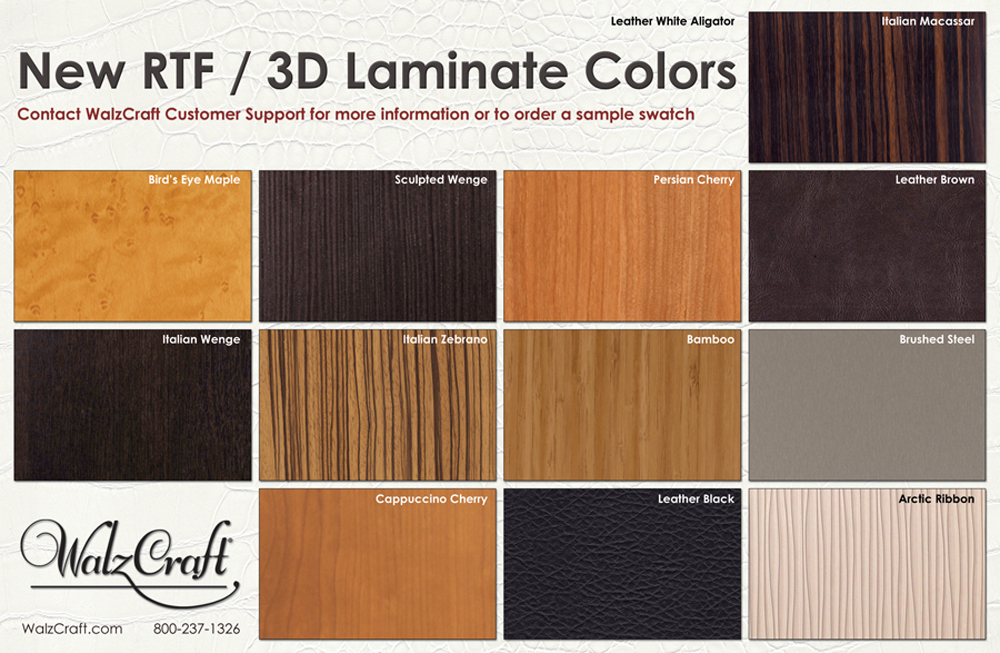 Laminate colors new rtf-3d laminate colors - walzcraft srf3 CFEMHVR