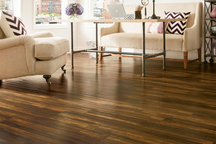 Laminate flooring ideas hand-scraped laminate in the living room - l6623 burnt ombre IOUIVXR