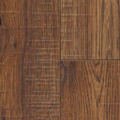 laminate wood flooring distressed brown hickory 12 mm thick x 6-1/4 in. wide x WFHQYXG