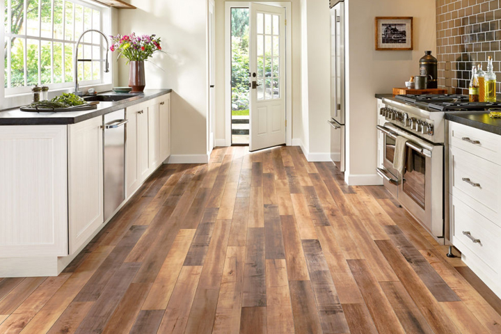 laminate wood flooring ideas laminate in the kitchen with a wood look - l6625 worldly hue GUHYEOO