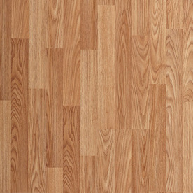laminate wood flooring project source natural oak 8.05-in w x 3.96-ft l smooth wood plank PNAOATC