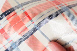 Laminated fabric sewing lesson, how to sew with laminate fabrics on polkadotchair.com JCUSTVA