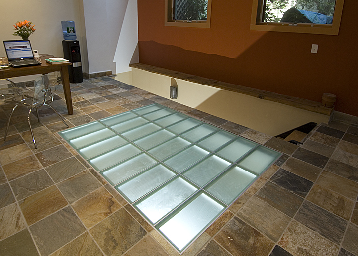 laminated glass floor system structural glass floor system in an office ZQWMIGO