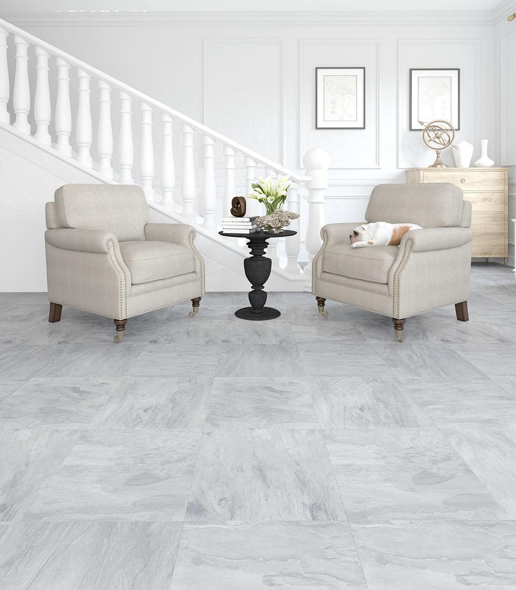 Laminated look hdf laminate flooring / floating / stone look / tile look - slate BQSODGQ