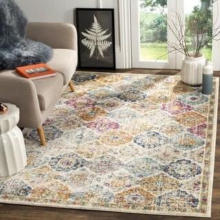 large area rugs safavieh madison bohemian cream/ multi rug - 12u0027 ... MXIJNBE