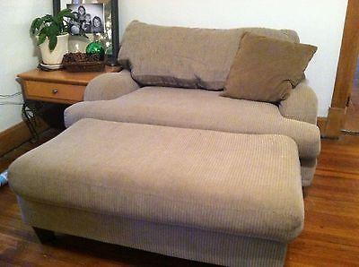 large loveseat 4 piece taupe sofa love seat oversized chair ottoman something like this QKOPTTD