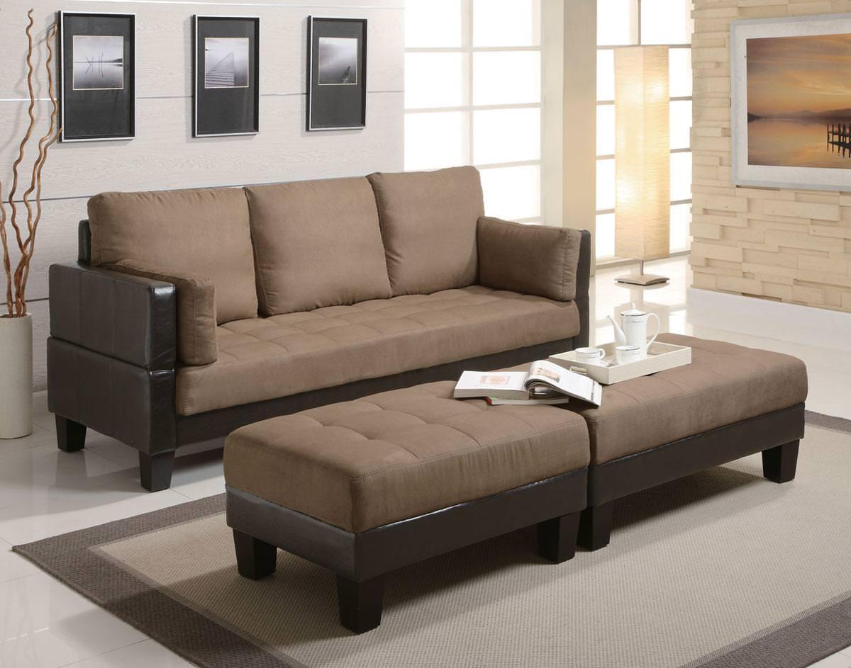 lauren 3 piece sofa bed set in brown by coaster SOYTDXH