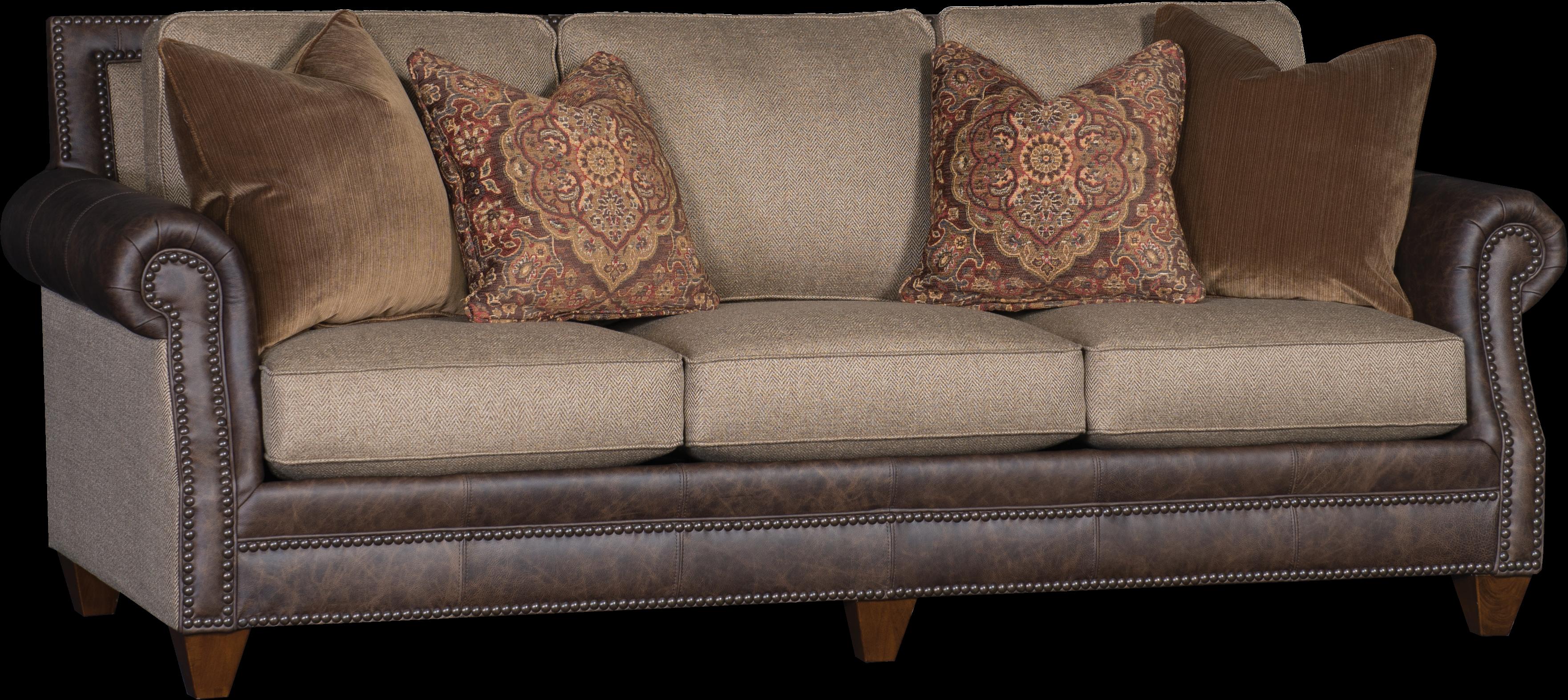 leather fabric sofa bradleyu0027s furniture etc. - mayo leather and fabric sofas VMYRJWJ