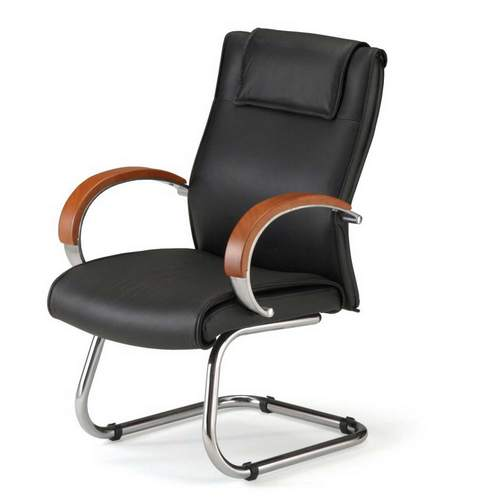 leather office chairs without wheels PXIUIYN