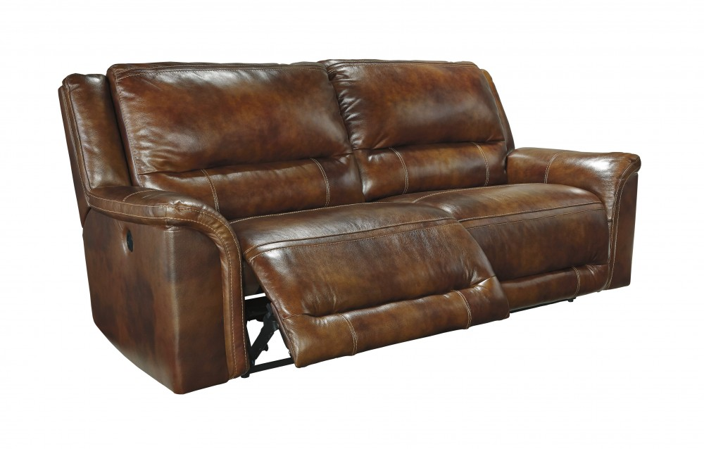 leather reclining sofa jayron - harness - 2 seat reclining sofa AYEZLCF