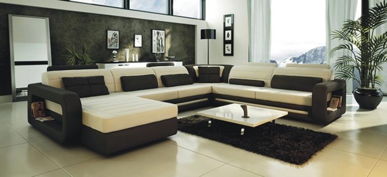 leather sectional sofa alternative views: JCAJKQH