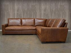 leather sectional sofa braxton mini leather  ODVOVFD