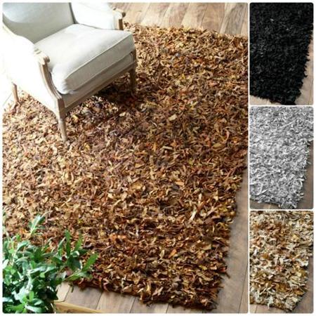Leather shag rugs get quotations · nuloom handmade alexa premium leather shag rug (3u00276 x ... EFIPDZB