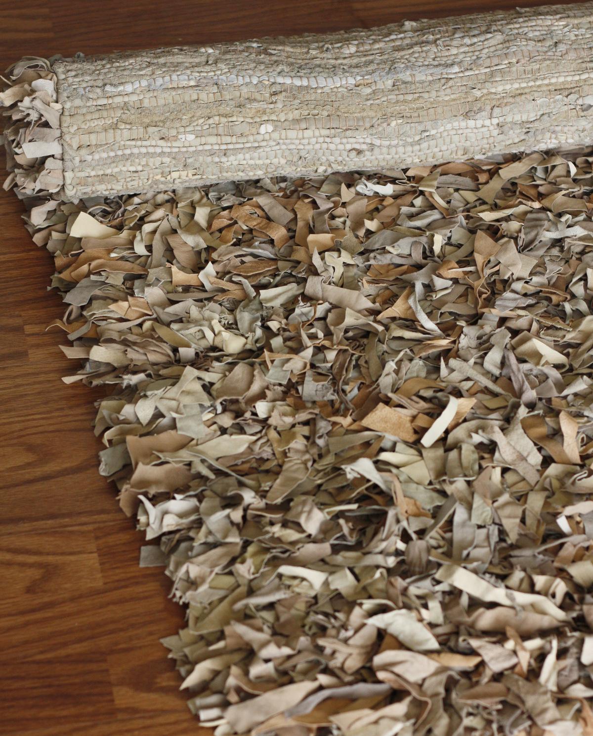 Leather shag rugs nuloom textures leather silas leather shag rug FFAHMEG
