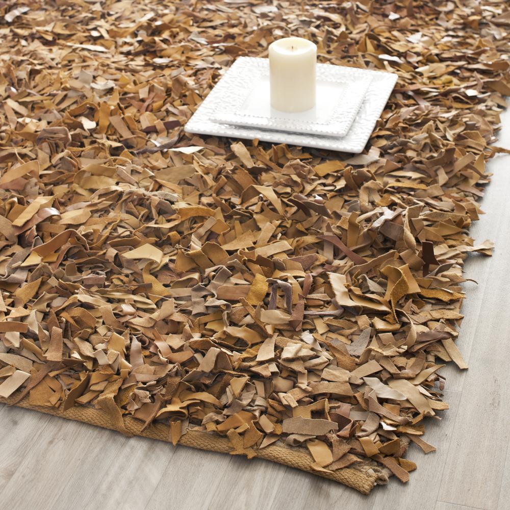 Leather shag rugs – a decent choice