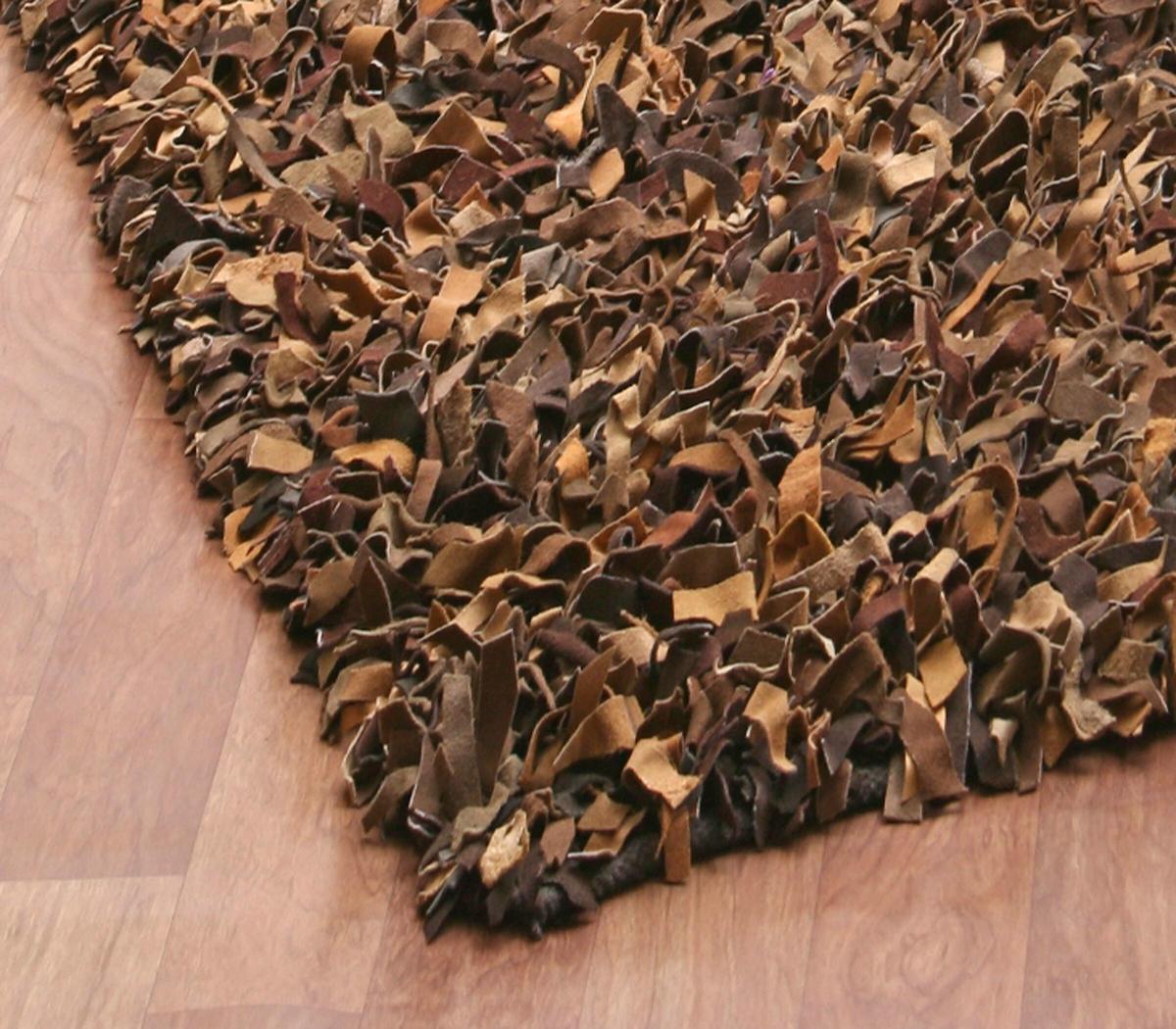 Leather shag rugs st. croix pelle leather shag rug QWAEGEG