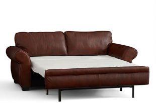 leather sleeper sofa pearce leather deluxe sleeper sofa | pottery barn BQDXJHL