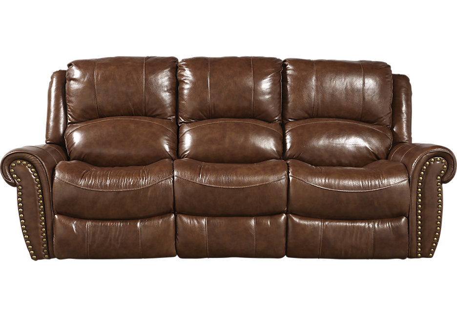 leather sofa abruzzo brown leather reclining sofa MJEUQOE