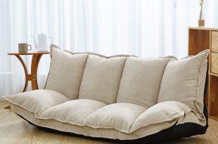 linen fabric upholstery adjustable floor sofa bed lounge sofa bed floor  lazy URZZDWN