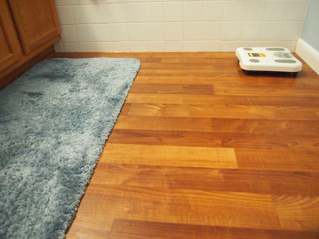 linoleum floor introduction: bathroom linoleum flooring replacement project KLDQMZA