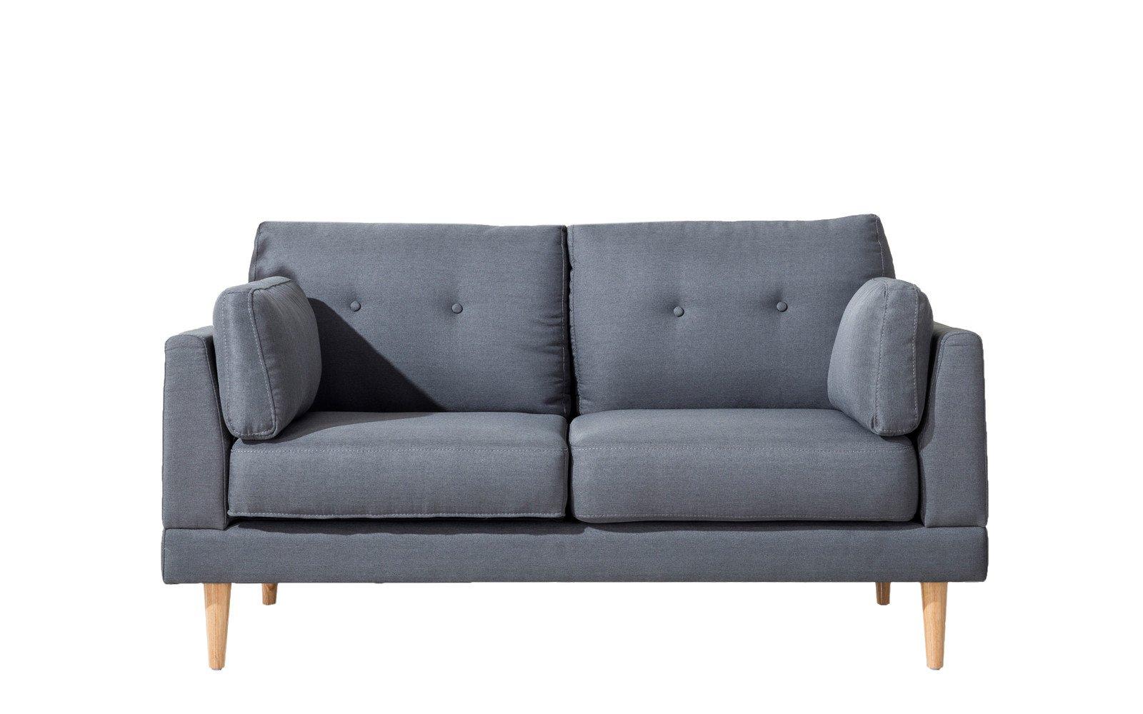 Love seat sofa ian mid century modern loveseat in dark grey ... WLJBBLB