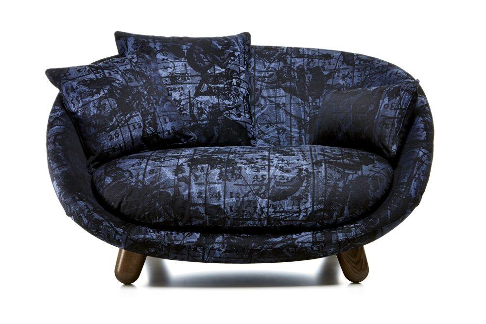 love sofa wood stained cinnamon, abbracci black by moooi KGIWKVN